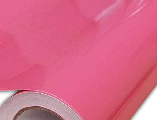 Hachi Auto High Gloss Pink Vinyl Car Wrap 12-by-60-inch