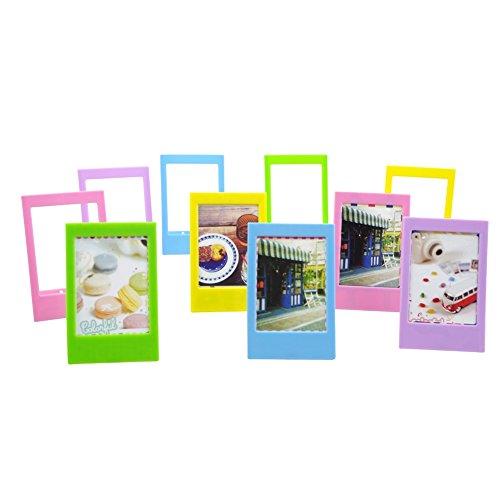 Katia 10pcs 3 Inches Colorful Instant Mini Photo Frame For