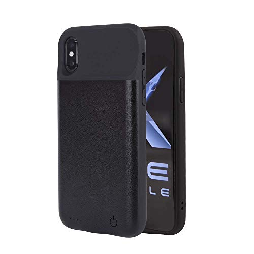 iPhone Qi Wireless Battery Charging Case, 2600/3800/4000 mAh for iPhone 6/7/8/X and 6/7/8 Plus, Portable Wireless Charging Case Extended Battery Pack (iPhone X (4000 mAh))