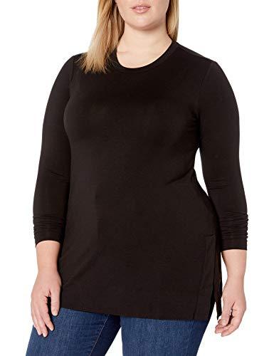 Amazon Brand – Daily Ritual Women's Plus Size Long-Sleeve Split-Hem Tunic