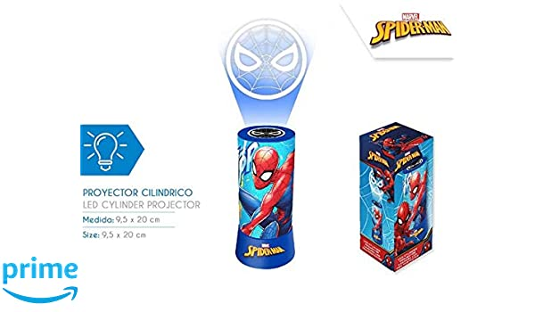 Spiderman- Proyector Led, (Kids Euroswan KD-MV15421): Amazon.es ...