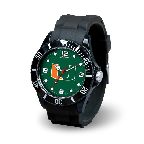 NCAA Miami Hurricanes Spirit Watch, (Miami Hurricanes Clock)