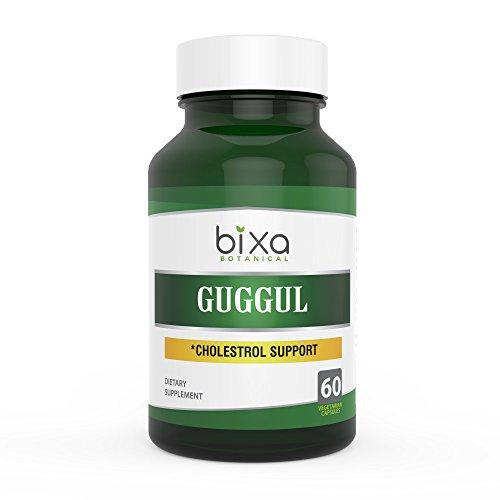 Bixa Botanical Guggul Extract Ayurvedic Herb for Cholesterol Level & Lipid Metabolism, Herbal Supplement to Improve Blood Circulation, Anti-Inflammatory Veg Capsules 60 Count (450mg)