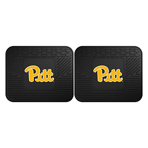 Fanmats 13225 University of Pittsburgh Panthers Rear Second Row Vinyl Heavy Duty Utility Mat, (Pack of 2)