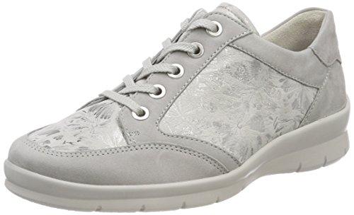 Cordones perle para 784 Semler Zapatos de Grigio Brogue Gris Xenia Mujer tPwpq1z