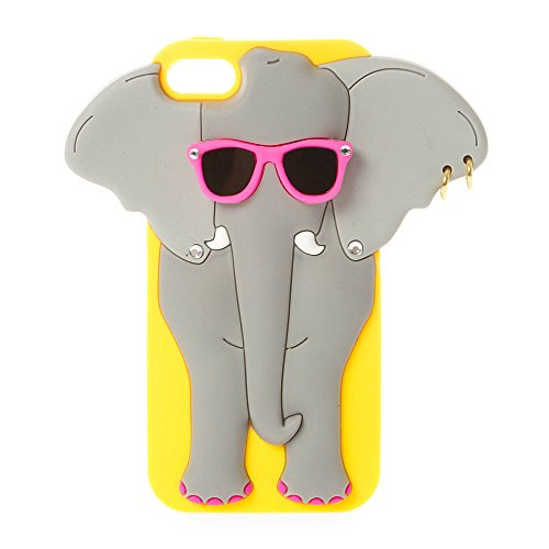 Claire's Accessories Girls Silicone Elephant with Sunglasses Cover for iPhone 5, 5s and 5c