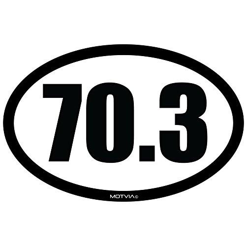 Half Iron (Motvia 70.3 Half Iron Triathlon Oval Car Magnet)