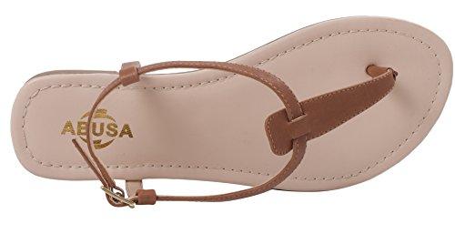 Abusa Kvinna Läder / Mocka Vikbara Sandaler Skor Sandaler Läder Brun