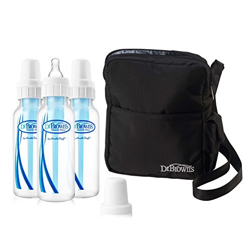 Dr. Brown's Insulated Bottle Tote and 3-pack 8oz Original Bottles