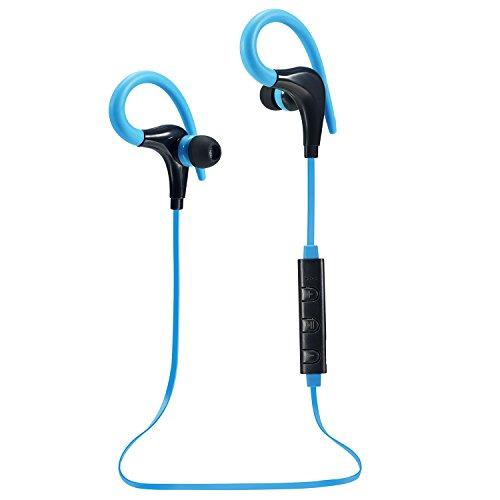 US Shipping AmericaMander 4.1 Blue Wireless Headphone Bluetooth Headset Headphones Microphone AptX Sport Earphone for iPhone Android Phone