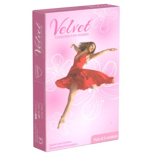 Velvet Condoms for Women - 3 Frauenkondome