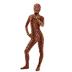 - 41Lhm3 2BpJ3L - Halloween Cosplay Full Bodysuit Animal Pretend Play Tiger Dress Up Zentai Costume