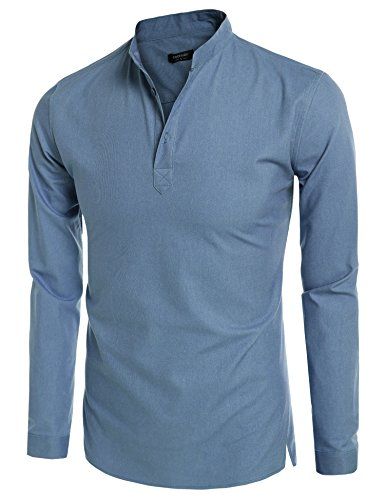Coofandy-Mens-Casual-Long-Sleeve-Basic-Henley-Shirt