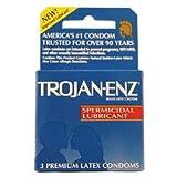 Trojan Spermicidal Lubricant (dark Blue) 3 Pk Each ( 6 In A Pack )