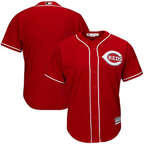 VF Cincinnati Reds MLB Mens Majestic Alternate Cool Base Replica Red Jersey Big & Tall Sizes (4XT) Cincinnati Reds Baseball Jersey
