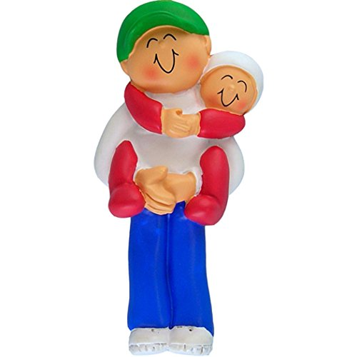 Brother Personalized Ornament Big (Personalized Big Brother Christmas Ornament for Tree 2018 - Lovely Happy Teen Hugging Carrying Younger Sibling Baby Care - First New Small Little Bro Sister Family - Free Customization)