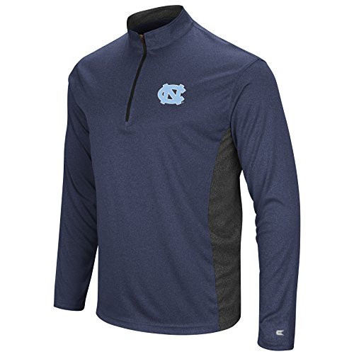 North Carolina Tarheels Men's Audible Long Sleeve 1/4 Zip Windshirt Pullover (Medium) (Zip Pullover Windshirts)