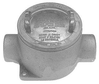 Cooper Crouse-Hinds EABC26 Conduit Outlet Box with Cover 3/4'' Hubs