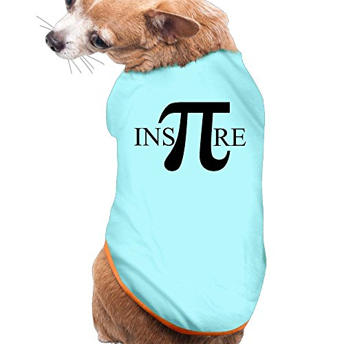 WUGOU Dog Cat Pet Shirt Clothes Puppy Vest Soft Thin Math Puns Inspire Numbers 3 Sizes 4 Colors Available