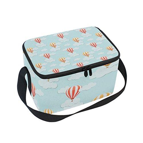 lorvies aire caliente Ballons patrón caja de almuerzo aislada enfriador de bolsa reutilizable bolsa con correa de hombro...