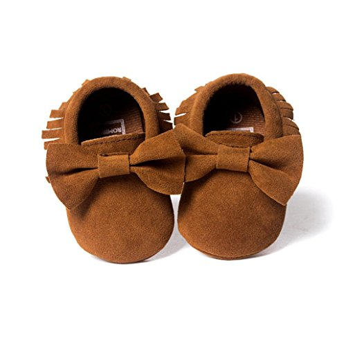 Casual Shoes(0~18T),Kimanli Baby Crib Tassels Bowknot Shoes Toddler Sneakers (0~6months, Coffee)