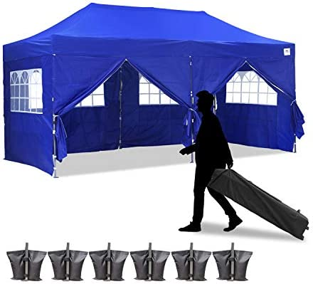 Leisurelife 100 Waterproof Pop-up Canopy Tent 10x20ft