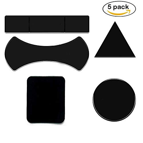 Multi Purpose Nano Sticky Gel Pads, for Car Holder Mat Cell Phone Sticky to Toilet Wall Glass Mirrors, Dashboard, Kitchen, Office, Cabinets (Black 5)