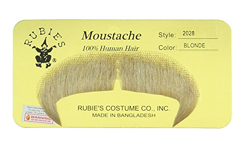 Rubie's Costume Winchester Fake Moustache  Blonde  One Size ()