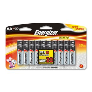 Battery, Energizer Max, Aa 16 Pk. from ENERGIZER BATTERY INC.