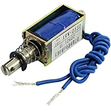 Uxcell a14032200ux0084 Push Pull Type Electric Electromagnet Solenoid, DC 12V, 2.1 kg Force, 10 mm