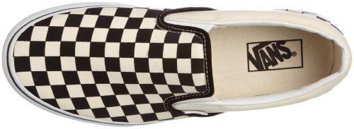 Checker Classics Slip Core Black Tm White and White Vans on aZ1n68qqB
