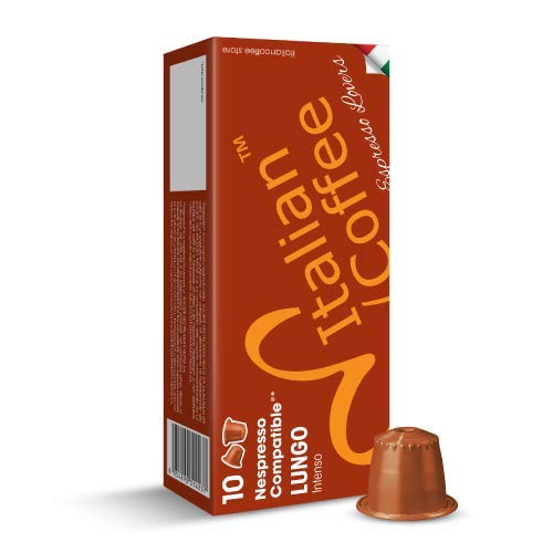 - 100 Nespresso compatible Italian Expresso capsules (Lungo)