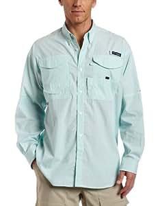 Columbia Men's Super Bonehead Classic Long Sleeve Fishing Shirt (Gulf Stream Gingham, Small)