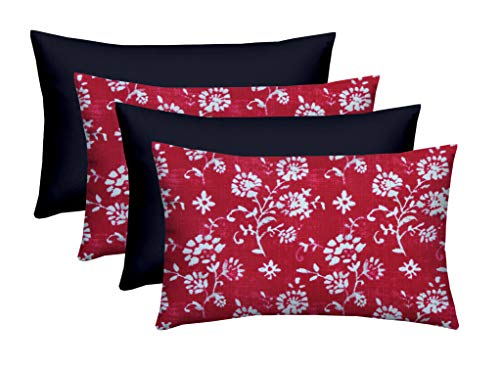 Set of 4 - Indoor/Outdoor Rectangle Lumbar Decorative 20
