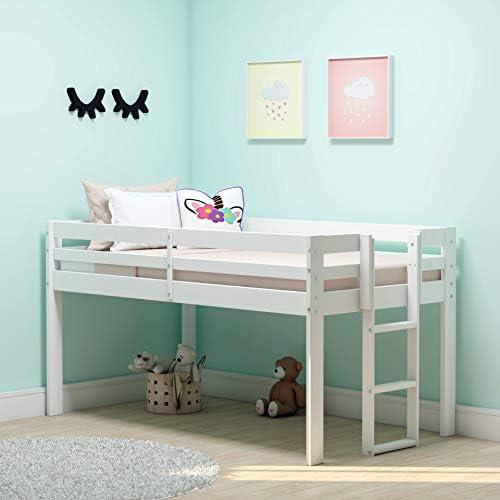 Alaterre Furniture Jasper Twin Wood Junior Loft Bed