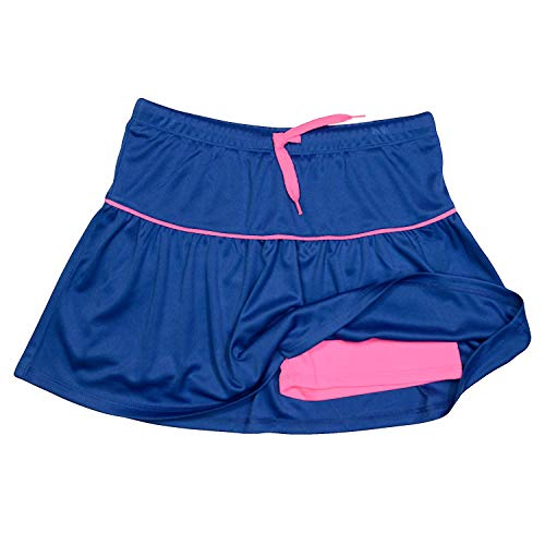 PUMA Girls Athletic Tennis Skort Running Active Yoga Gym Mesh Activewear Blue 5