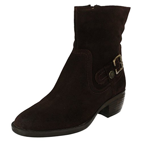 Hush Puppies Pennine Ank Bt_bu, Damen Stiefel Braun (Dark Brown Waxy)