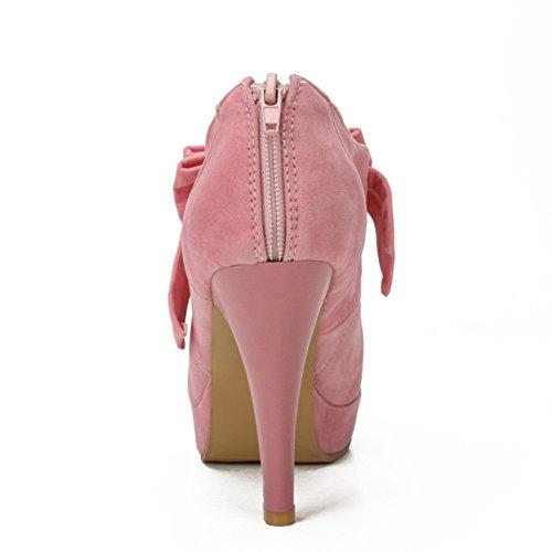 fereshte Women's Platform Pump Party Dress High Heels Elegant Bow Tie Ankle Strap Stiletto Heel 544pink X05r6ZB