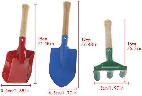 Juego de 3 herramientas de jardín para niños, pala de rastrillo, pala para el hogar, jardín, playa, juguete: Amazon.es: Bricolaje y herramientas