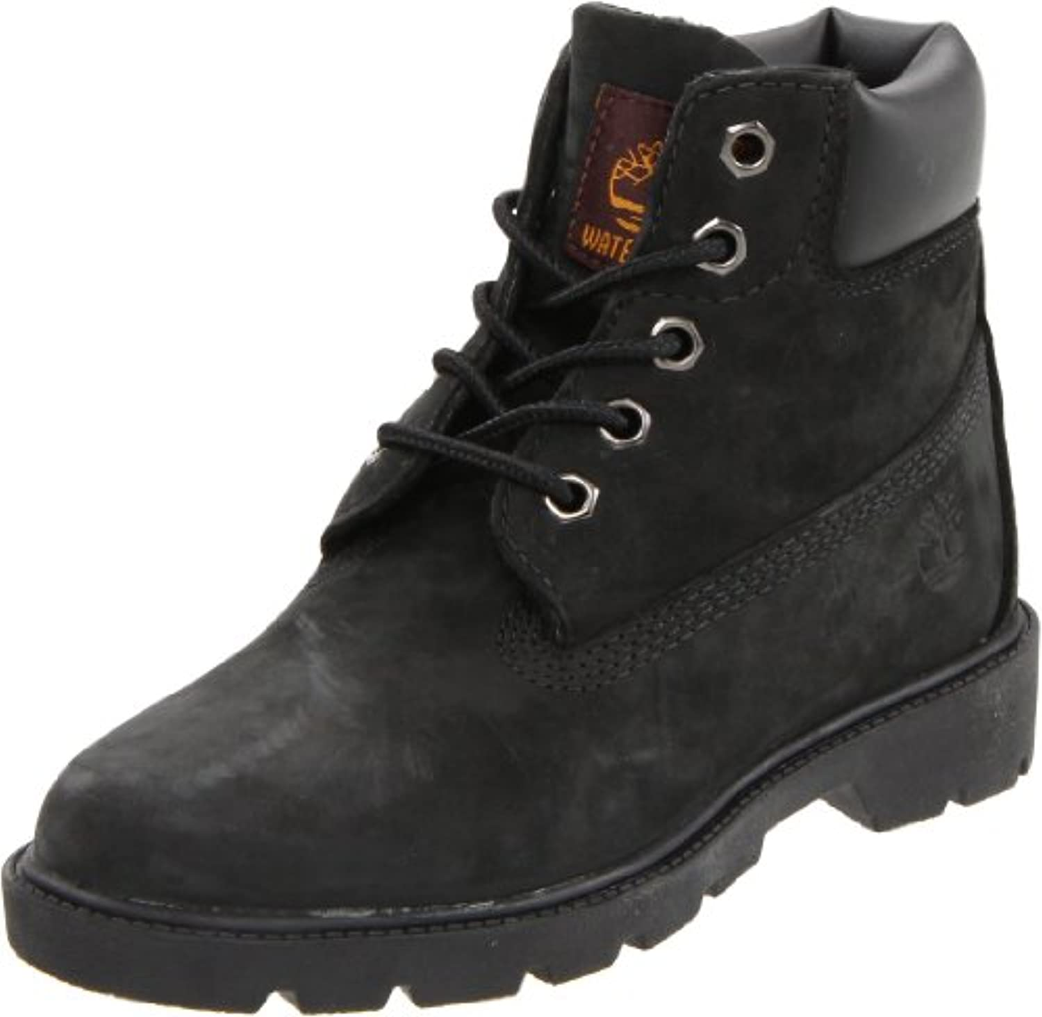 Timberland Youths 6-Inch Classic Black Leather Boots 3.5 UK