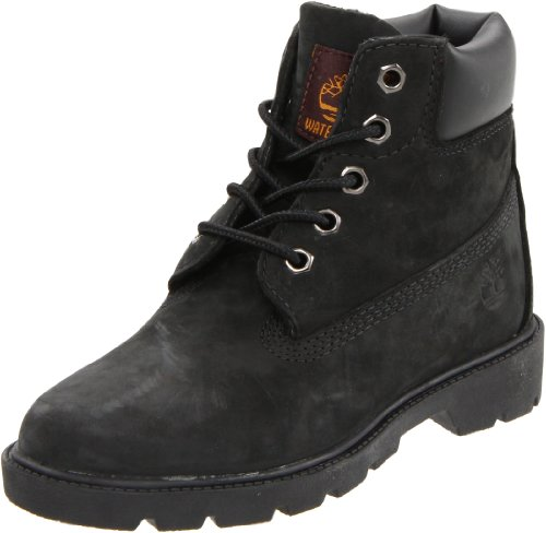 Timberland 6 Inch Boot (Toddler/Little Kid/Big Kid),Black ,5.5 W US Big Kid by Timberland