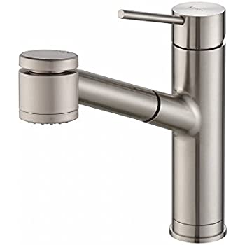 Kraus KPF 2610SS Modern Oletto Single Lever Pull Out Kitchen Faucet,  Stainless Steel