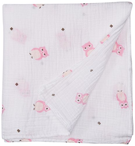 lulujo Muslin Cotton Swaddling Blanket
