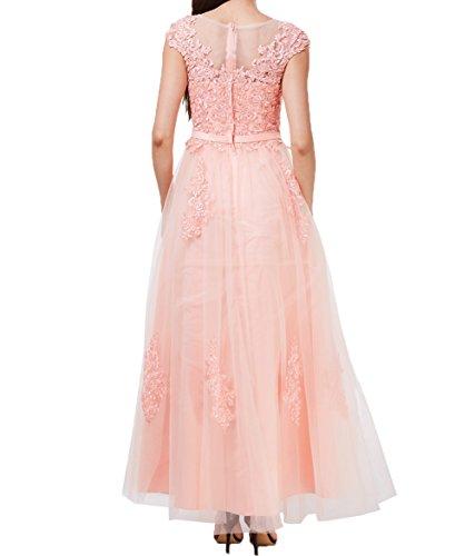 Partykleider Spitze A Neu Linie Pink Charmant Dunkel 2018 Abendkleider Cocktailkleider Hundkragen Promkleider Damen Lang Rock UwIwfx1qz0