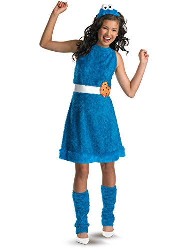 Cookie Monster Halloween Costume Female (Sesame Street Cookie Monster Teen Girls Costume,)