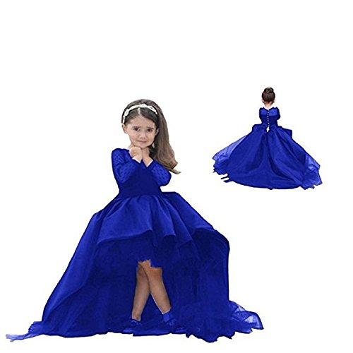 Helen Hi-lo Flower Girls Dresses for Weddings Pageant Toddler Gowns (Girls Hi Lo Pageant Dresses)