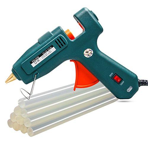 Hot Glue Gun kits, 10pcs Glue Sticks High Temperature Melting Glue Gun 60/100W Industrial Glue Gun Flexible Trigger for DIY Small Craft Projects&Sealing and Quick Repairs by FOLOTE