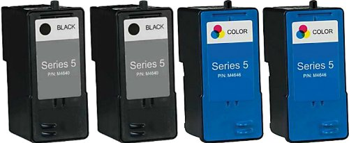 HouseOfToners 4 PK Dell Series 5 Ink Cartridge Remanufactured in USA M4640 M4646 For 922 924 944 962 964 942 (Alternative Replacement)
