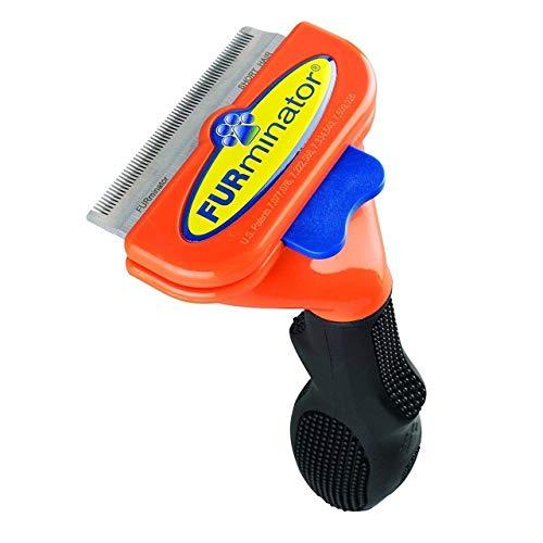 (Short Hair deShedding Brush for Medium Dogs 21-50Lbs Edge Blade FURminator Grooming Tool Comb)