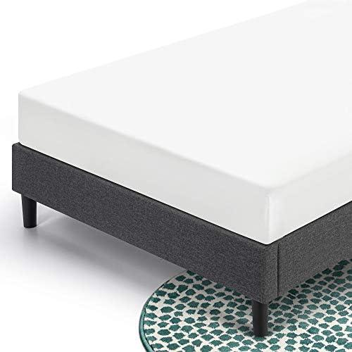 ZINUS Curtis Upholstered Platform Bed Frame / Mattress Foundation / Wood Slat Support / No Box Spring Needed / Easy Assembly, Grey, Full 41Lhszl5OjL